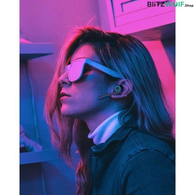 BlitzWolf® BW-FLB3: gamer TWS fülhallgató / RGB LED fény / lecsatolható mikrofon