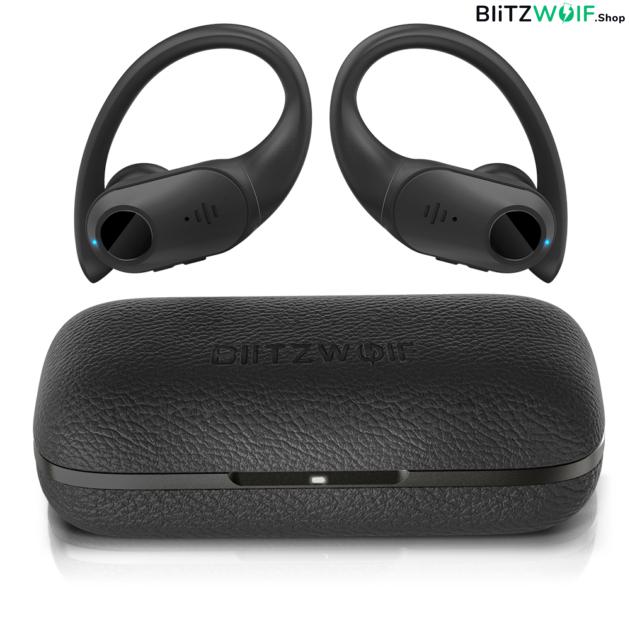 BlitzWolf® BW-FYE10: teljesen vezeték nélküli Dynamic Driver fülhallgató bőr töltődobozzal 1