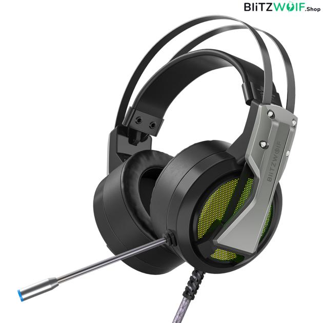 BlitzWolf® BW-GH1: 7.1 gamer fejhallgató RGB leddel 1