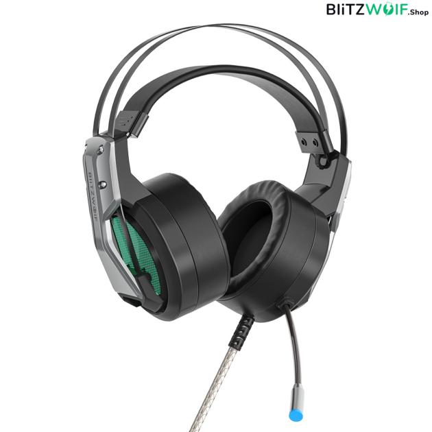 BlitzWolf® BW-GH1: 7.1 gamer fejhallgató RGB leddel