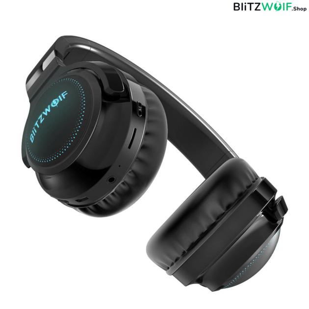 BlitzWolf® BW-HP0 Pro: Bluetooth fejhallgató RGB leddel és akár 42 órás üzemidővel alulról