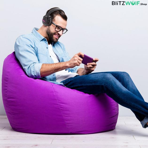 BlitzWolf® BW-HP0 Pro: Bluetooth fejhallgató RGB leddel és akár 42 órás üzemidővel játék közben