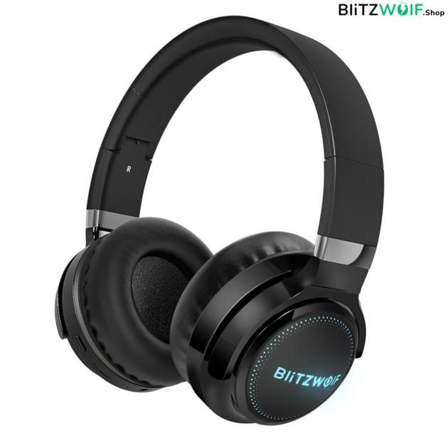 BlitzWolf® BW-HP0 Pro Bluetooth fejhallgató RGB leddel és akár 42 órás üzemidővel