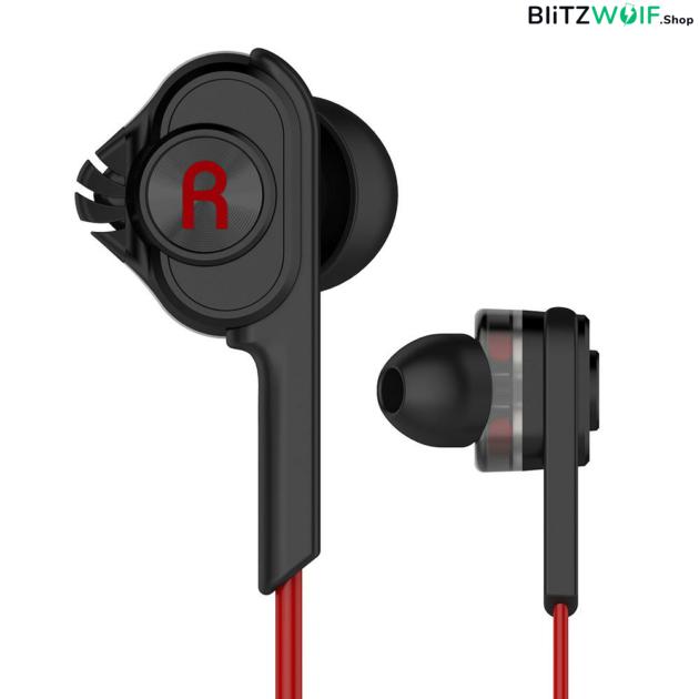 BlitzWolf® BW-ES2: Dual Dynamic Driver In-ear mikrofonos fülhallgató 1