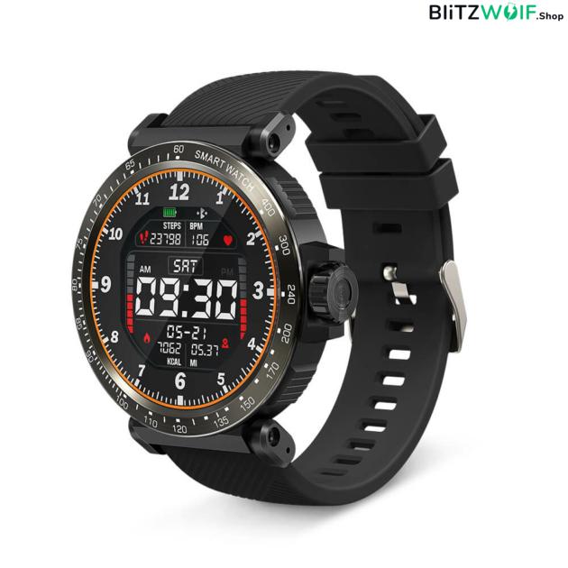 BlitzWolf BW-AT1: érintőkijelzős aktivitásmérő okosóra vérnyomás és pulzusmérővel - Fekete 1