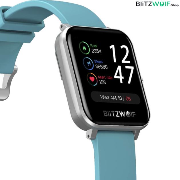 BlitzWolf® BW-GTC: érintőkijelzős aktivitásmérő okosóra 24 órás pulzusméréssel - Fekete