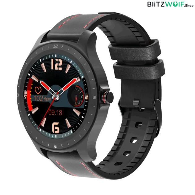 BlitzWolf BW-HL2: érintőkijelzős aktivitásmérő okosóra vérnyomás és pulzusmérővel - Fekete 1