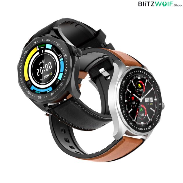 BlitzWolf BW-HL3: érintőkijelzős aktivitásmérő okosóra vérnyomás és pulzusmérővel - Ezüst