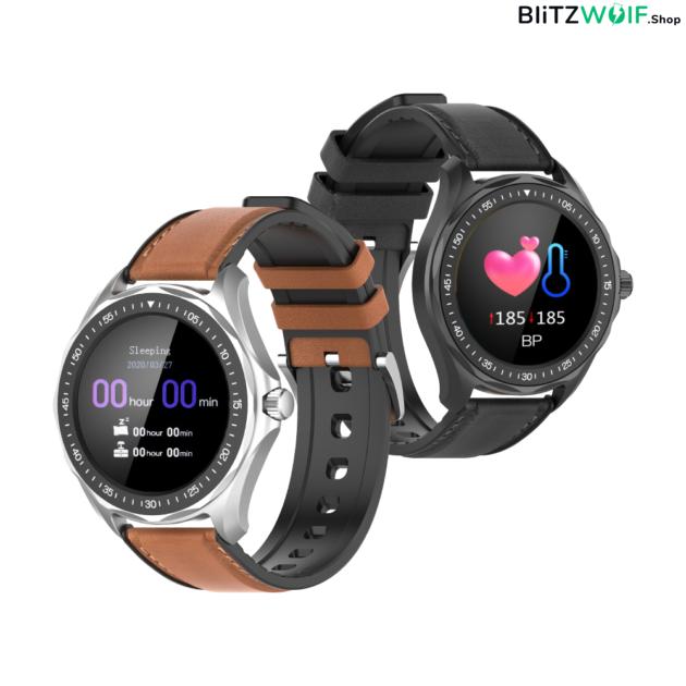 BlitzWolf BW-HL3: érintőkijelzős aktivitásmérő okosóra vérnyomás és pulzusmérővel - Ezüst párban