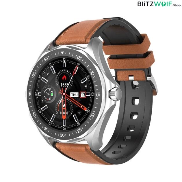 BlitzWolf BW-HL3: érintőkijelzős aktivitásmérő okosóra vérnyomás és pulzusmérővel - Ezüst 1