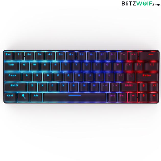 BlitzWolf® BW-KB1: vezeték nélküli mechanikus gamer billentyűzet