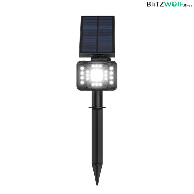 BlitzWolf® BW-OLT2: vízálló napelemes lámpa morgásérzékelővel ellátva (21 LED)