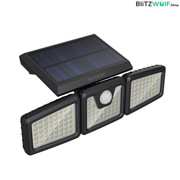 BlitzWolf® BW-OLT4: vízálló napelemes lámpa morgásérzékelővel ellátva (128 LED)