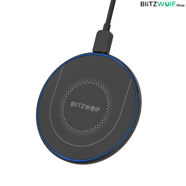 BlitzWolf® BW-FWC7: vezeték nélküli QI gyorstöltő pad - 15W 1