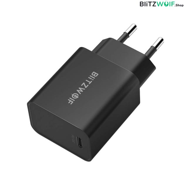 BlitzWolf® hálózati gyorstöltő (27W) + USB PD Type-C töltő-és adatkábel