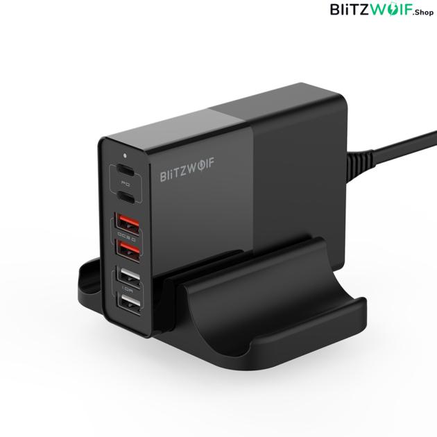 BlitzWolf® BW-S16: 75W teljesítményű 6 kimeneti portos töltőállomás 1