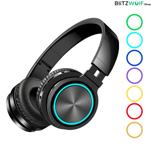 BlitzWolf® AirAux AA-ER1: grafén összecsukható vezeték nélküli fejhallgató beépített mikrofonnal