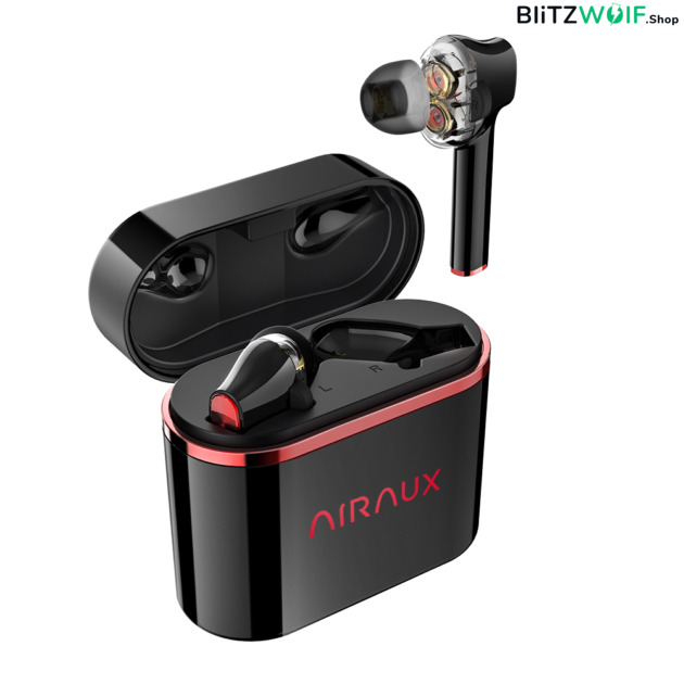 BlitzWolf® AirAux AA-UM5: TWS dual dynamic fülhallgató (IPX5)