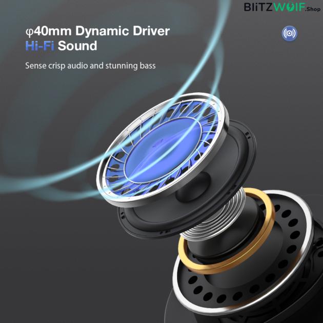 BlitzWolf® BW-ANC5: Bluetooth 5.0 TWS fejhallgató dual aktív zajszűréssel