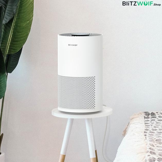 BlitzWolf® BW-AP1: okos légtisztitó éjszakai üzemmóddal