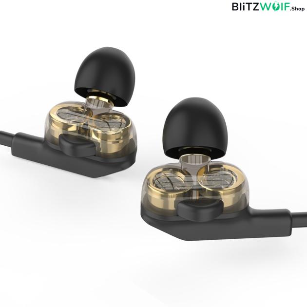 BlitzWolf® BW-ES6: 3.5mm csatlakozóval ellátott gamer fülhallgató mikrofonnal