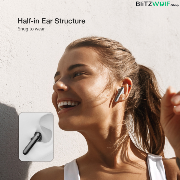 BlitzWolf® BW-FYE12: teljesen vezeték nélküli fülhallgató töltődobozzal