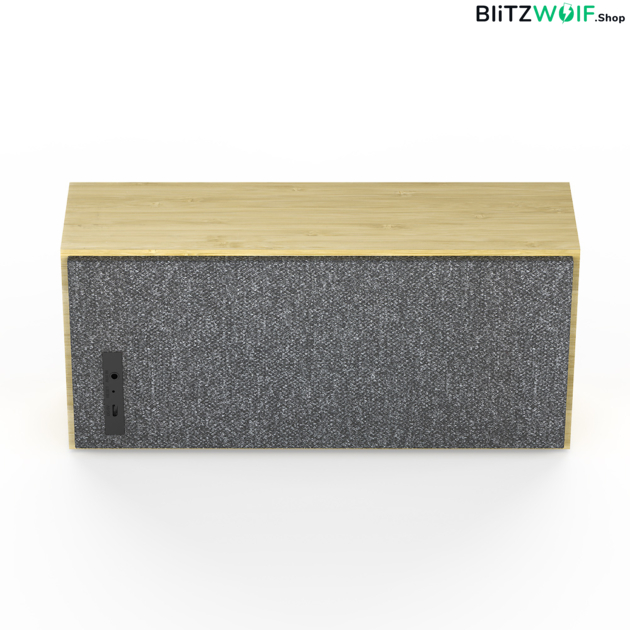 BlitzWolf® BW-HA1: 2000mAh vezeték nélküli bambusz Bluetooth hangszóró (20W)