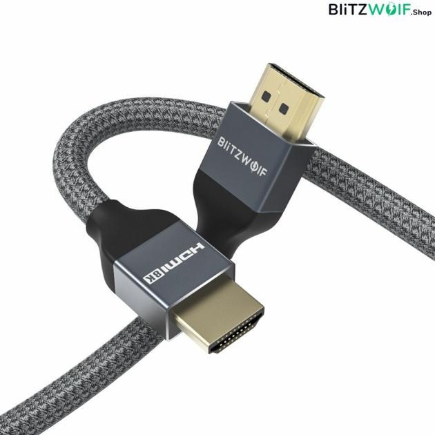 BlitzWolf® BW-HDC5: 8K 48Gbps HDMI kábel (3M)