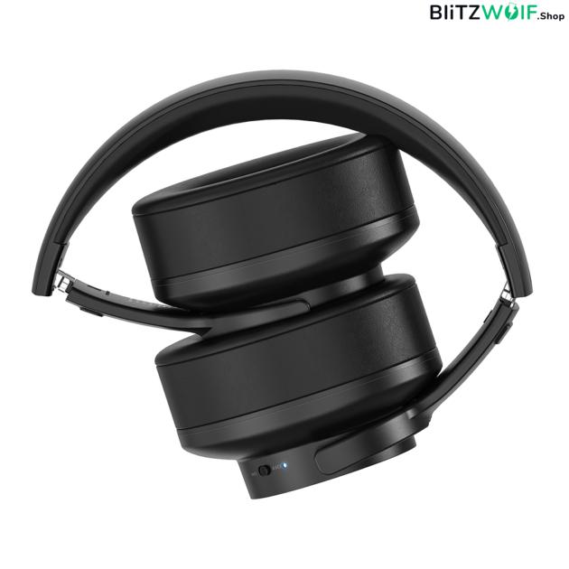 BlitzWolf® BW-HP2: vezeték nélküli Bluetooth fejhallgató beépített mikrofonnal