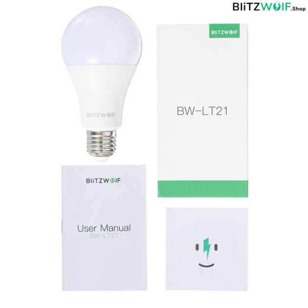 BlitzWolf® BW-LT21: Okos led izzó E27, 900LM, 10W, 2700-6500k, App vezérléssel