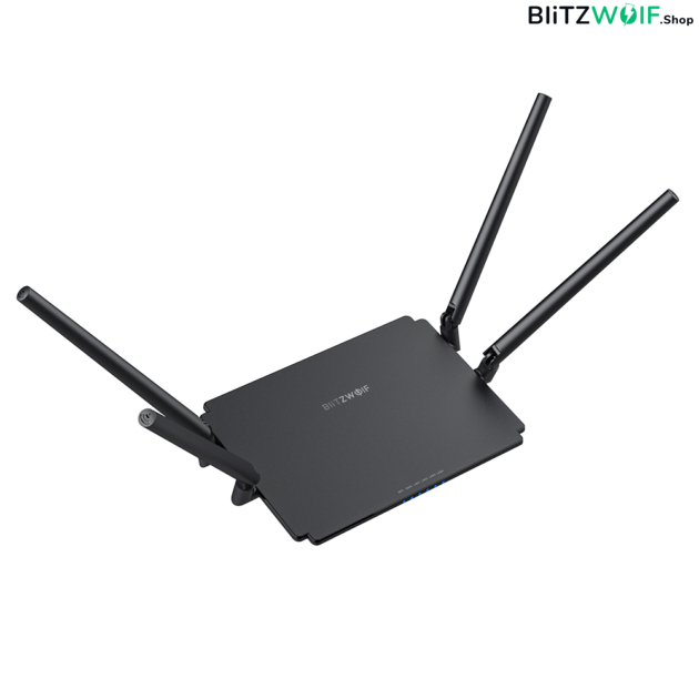 BlitzWolf® BW-NET1: Wireless Dual Band Gigabit router (1200 Mbps, 512MB Superior Chip)