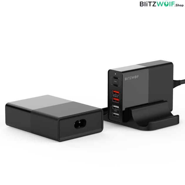 BlitzWolf® BW-S16: 75W teljesítményű 6 kimeneti portos töltőállomás