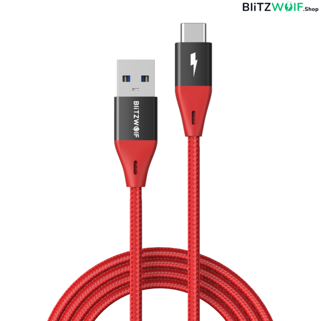 BlitzWolf® BW-TC22: USB 3.0 Type-C USB kábel - 180 cm
