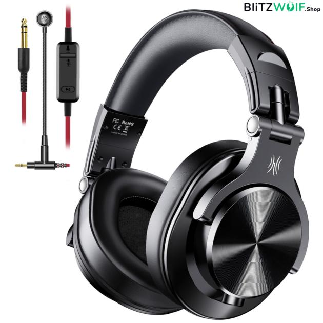 OneOdio A71: vezetékes Business fejhallgató - Fekete