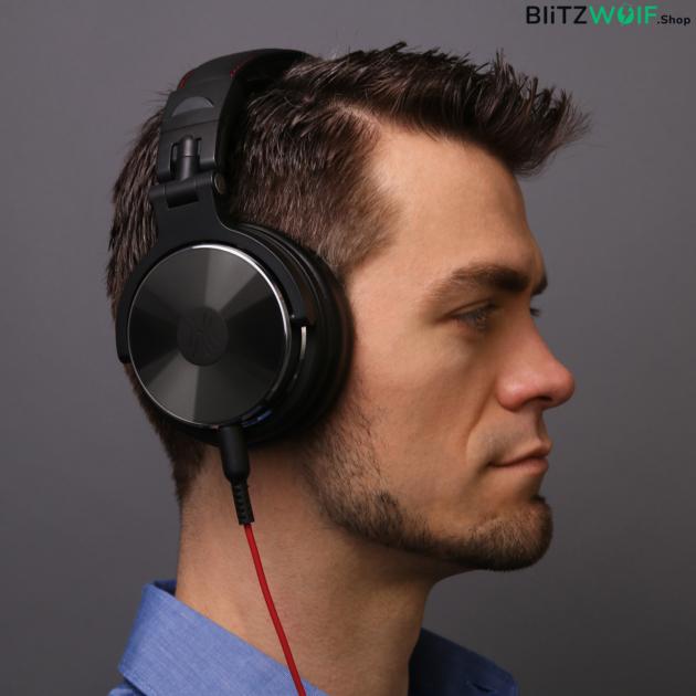OneOdio Pro 10: vezetékes DJ, studió fejhallgató - Fekete