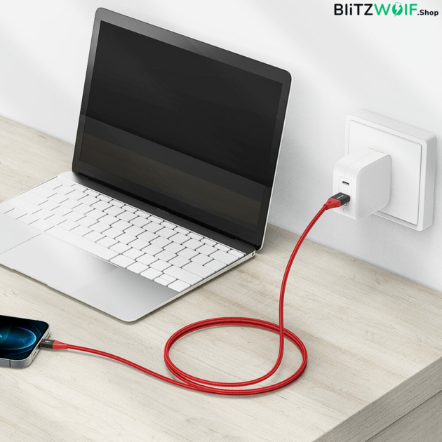 BlitzWolf® BW-MF9 Pro: Lightning töltő- és adatkábel (1m)